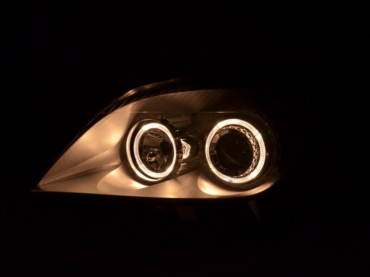 scheinwerfer set angel eyes opel astra h bj 04 10 chrom. Black Bedroom Furniture Sets. Home Design Ideas
