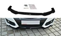 Front Ansatz Passend Für Honda Civic Mk9 Facelift Schwarz Hochglanz