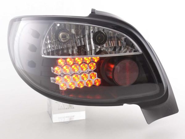 LED Rückleuchten Set Peugeot 206 CC Cabrio 98-05 schwarz