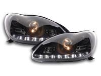 Scheinwerfer Set Daylight LED TFL-Optik Mercedes S-Klasse W220 Bj. 02-05 schwarz