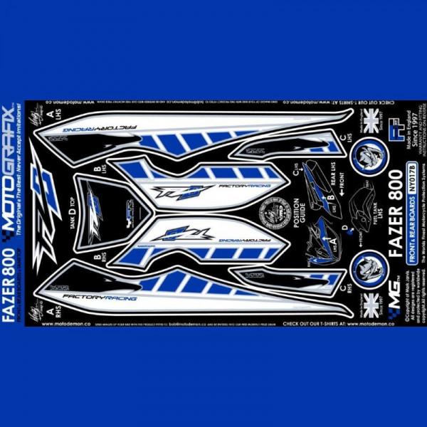 Motografix Steinschlagschutz Set Yamaha FZ 800 FZ8F 2010- NY017B