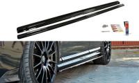 Seitenschweller Ansatz Passend Für VOLVO V50F R-DESIGN Carbon Look