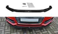 Front Ansatz Passend Für V.1 Audi S4 / A4 S-Line B9 Schwarz Hochglanz