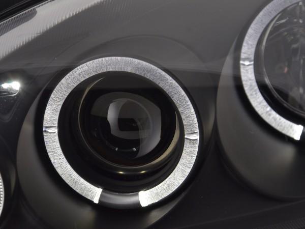 Scheinwerfer Set Angel Eyes Opel Corsa C Bj. 01-06 schwarz