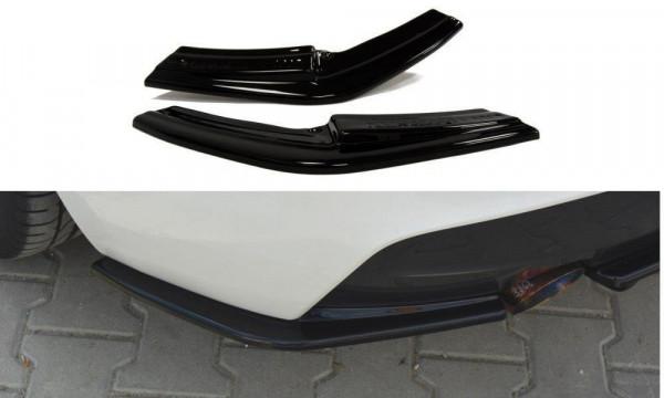 Heck Ansatz Flaps Diffusor Passend Für BMW 1er F20/F21 M-Power (vor Facelift) Schwarz Hochglanz