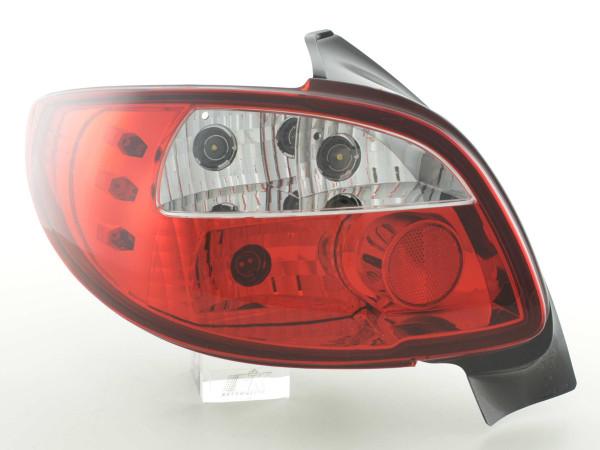 Rückleuchten Set Peugeot 206 Typ 2*** 98-05 klar/rot