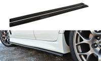 Seitenschweller Ansatz Passend Für Mitsubishi Lancer Evo X Schwarz Matt