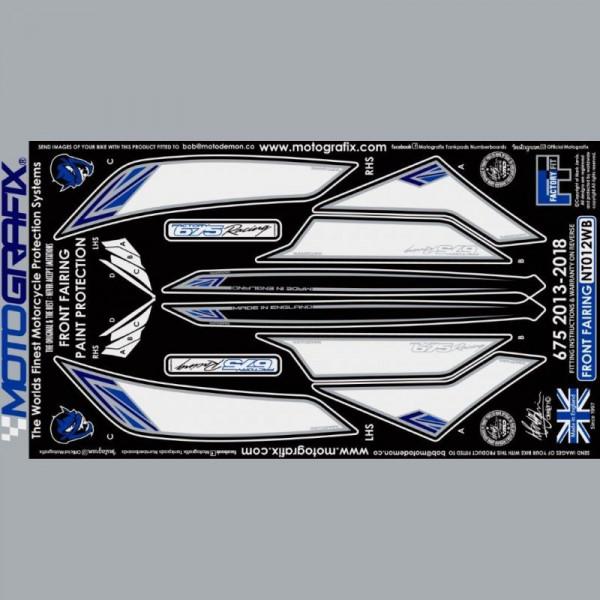 Motografix Steinschlagschutz vorn Triumph Daytona 675 2013- NT012WB