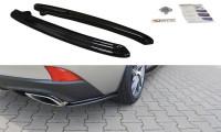 Heck Ansatz Flaps Diffusor Passend Für Lexus IS Mk3 Facelift T Schwarz Matt