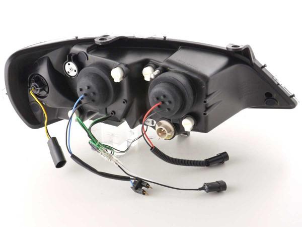 Scheinwerfer Set Daylight LED TFL-Optik Opel Astra G Bj. 98-03 schwarz