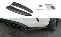 Heck Ansatz Flaps Diffusor Passend Für Mercedes C-Klasse C205 63 AMG Coupe Carbon Look