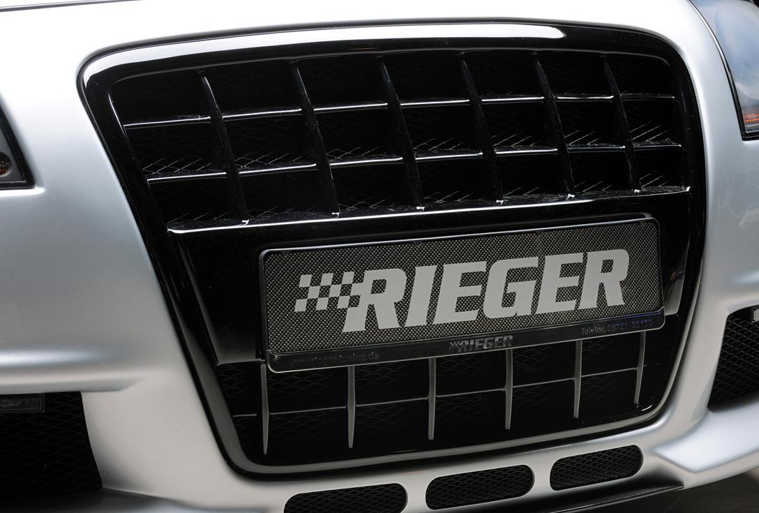 Rieger Grill mit integrierter Kennzeichenauflage glanz ...