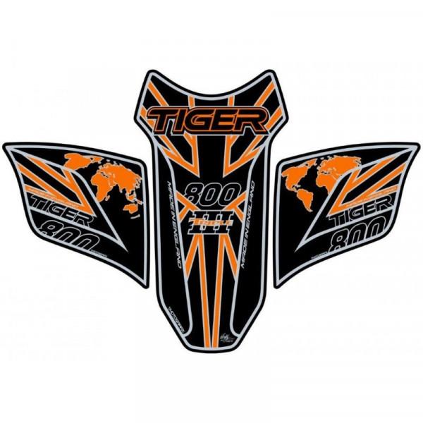 Motografix Triumph Tiger 800 3D Gel Tank Pad Protector TT031KOUJ