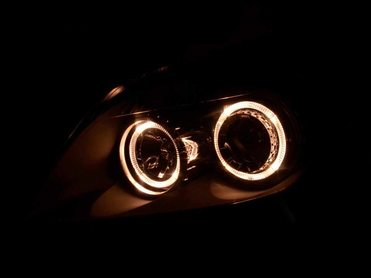 scheinwerfer set angel eyes opel astra h bj 04 10 schwarz. Black Bedroom Furniture Sets. Home Design Ideas