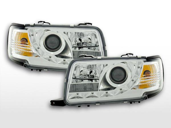 Scheinwerfer Set Daylight LED TFL-Optik Audi 80 Typ B4 91-94 chrom