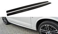 Seitenschweller Ansatz Passend Für BMW X4 M Paket Schwarz Hochglanz