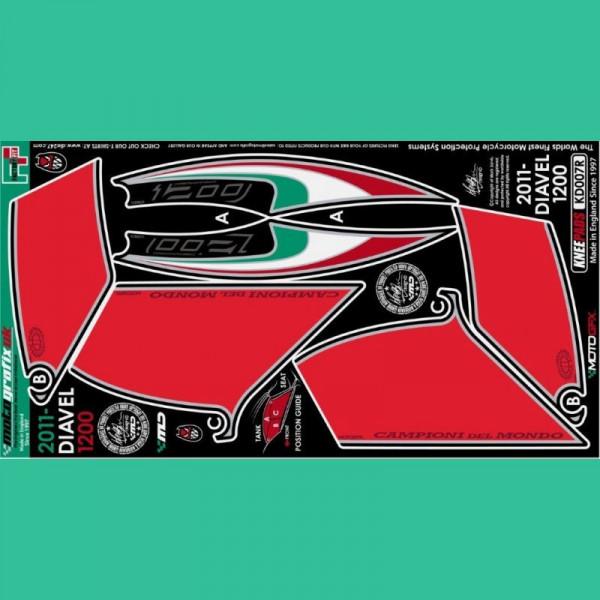 Motografix Tankschutz Knie Pads Ducati DIAVEL 1200 KD007R
