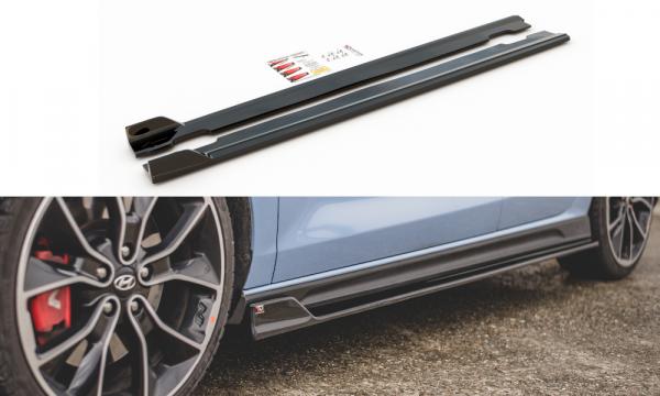 Seitenschweller Ansatz Passend Für V.5 Hyundai I30 N Mk3 Hatchback/ Fastback Schwarz Hochglanz