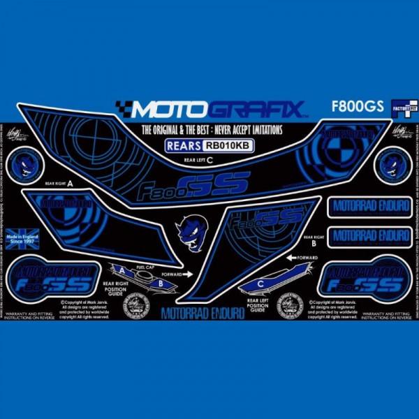 Motografix Steinschlagschutz hinten BMW F800 GS 2008-2012 RB010KB