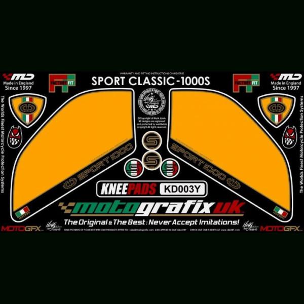 Motografix Tankschutz Knie Pads Ducati Sport Classic 1000 / S KD003Y