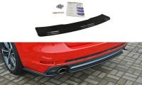Mittlerer Diffusor Heck Ansatz Passend Für Audi A4 B9 S-Line Carbon Look