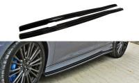 Seitenschweller Ansatz Passend Für Ford Focus RS Mk3 Schwarz Hochglanz