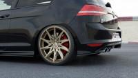 Heck Ansatz Flaps Diffusor Für VW GOLF 7 R Schwarz Hochglanz