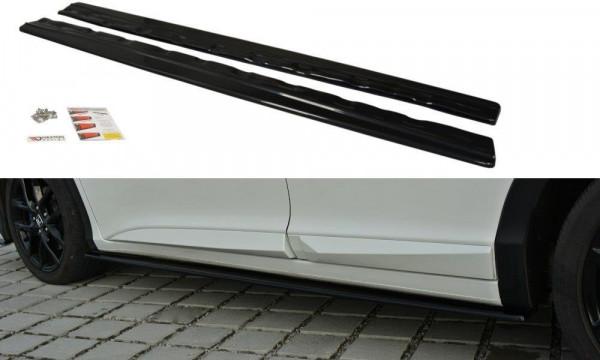 Seitenschweller Ansatz Passend Für Honda Civic Mk9 Facelift Schwarz Matt