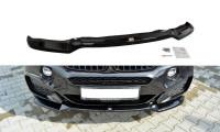 Front Ansatz Passend Für V.1 BMW X6 F16 M Paket Schwarz Matt