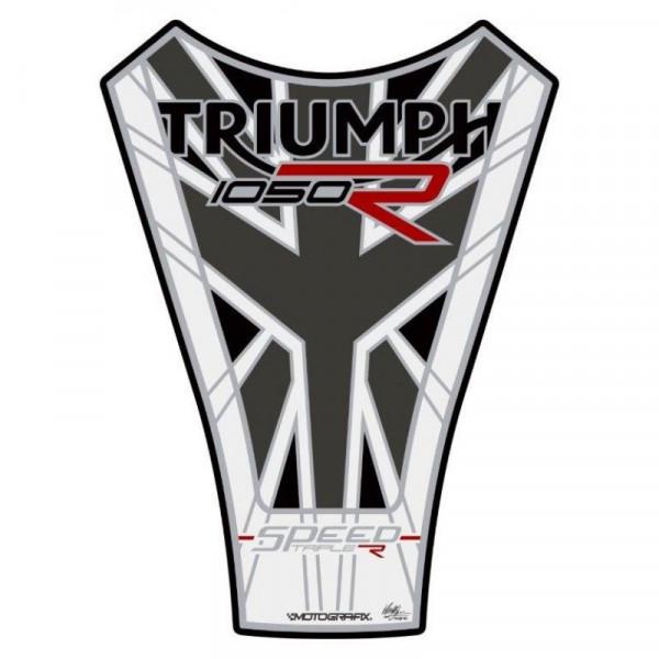 Motografix Triumph Speed Triple 1050 R 3D Gel Tank Pad Protector TT034MJW