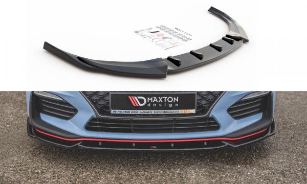Front Ansatz Passend Für V.5 Hyundai I30 N Mk3 Hatchback/ Fastback Schwarz Hochglanz