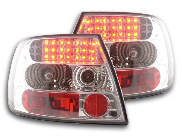 LED Rückleuchten Set Audi A4 Limousine Typ B5 95-00 chrom S4 / TDI