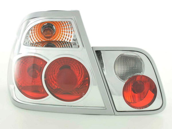 Rückleuchten Set für Heckklappe BMW 3er Limo Typ E46 Bj. 98-01 chrom