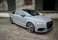 Seitenschweller Ansatz Für Audi RS3 8V FL Sedan Schwarz Hochglanz