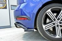 Heck Ansatz Flaps Diffusor Für VW GOLF 7 R Facelift Schwarz Matt