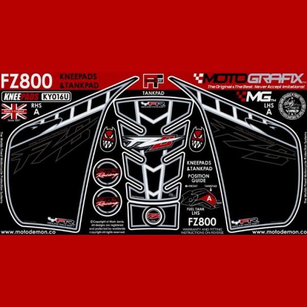 Motografix Tankschutz Knie Pads YAMAHA FZ800 FZ8 N 2010- KY016U
