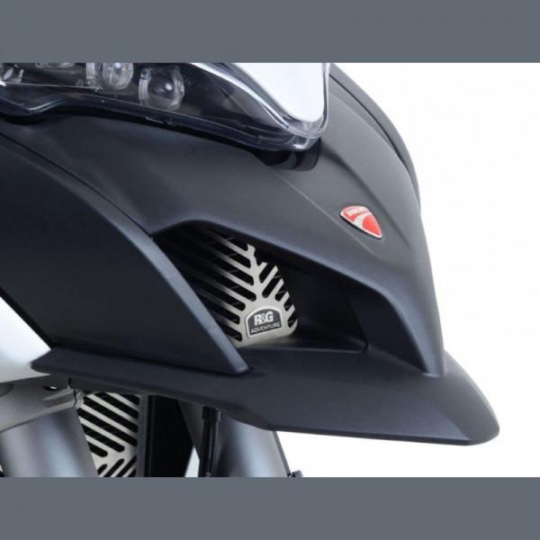 R&G Öl Kühlergitter Edelstahl Ducati Multistrada 950 / 1200 / 1260 ´15- / Enduro