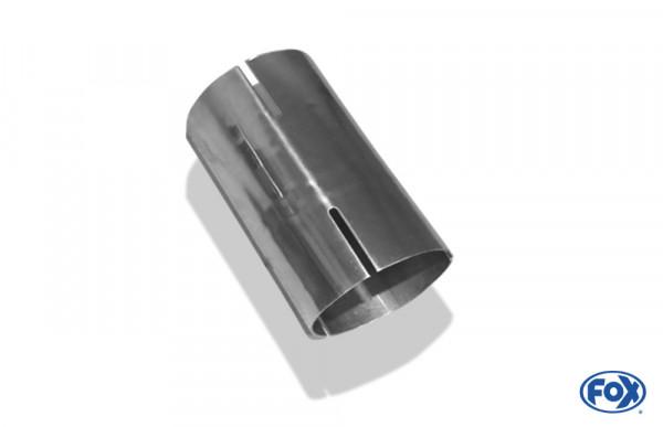 Doppelmuffe - 60,3mm auf 55mm - Länge: 120mm rechts/ links geschlitzt - d1 = 60mm innen - d2 = 55mm