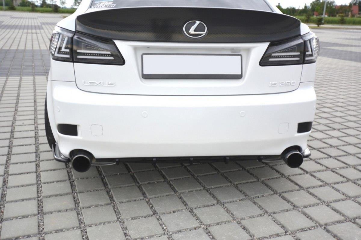 Heck Ansatz Flaps Diffusor für Lexus IS Mk2 schwarz Hochglanz