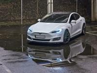 Seitenschweller Ansatz Passend Für Tesla Model S Facelift Schwarz Matt