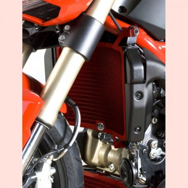 R&G Kühlergitter Set RED Wasser & Öl Ducati Streetfighter 848