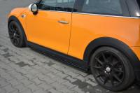 Seitenschweller Ansatz Für MINI COOPER S MK3 Vor Facelift 3-Türer (F56) Schwarz Hochglanz