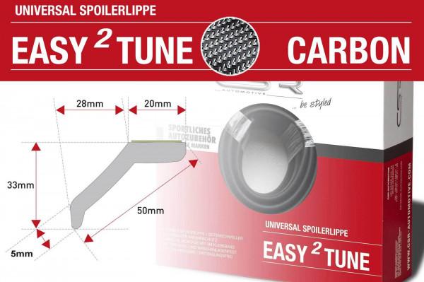 easy²tune Carbon-Look Universal Spoilerlippe zum ankleben ZB131-C