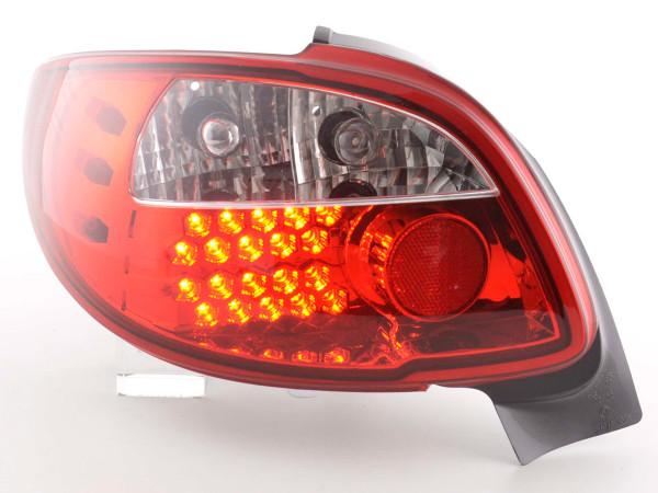 LED Rückleuchten Set Peugeot 206 CC Cabrio Bj. 98-05 klar/rot