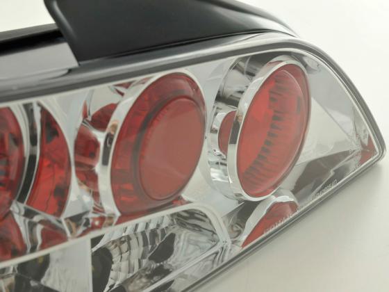 Rückleuchten Set Peugeot 406 4-trg. Typ 8*** Bj. 95-98 schwarz/chrom