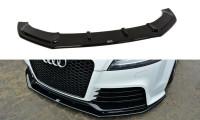 Front Ansatz Passend Für V.1 Audi TT RS 8J Schwarz Hochglanz