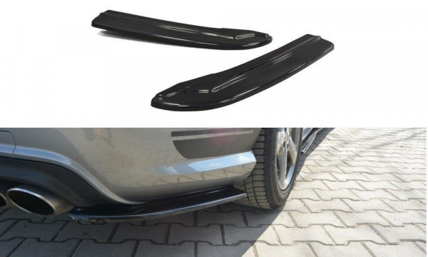 Heck Ansatz Flaps Diffusor Passend Für Mercedes C W204 63 AMG/AMG-Line Carbon Look