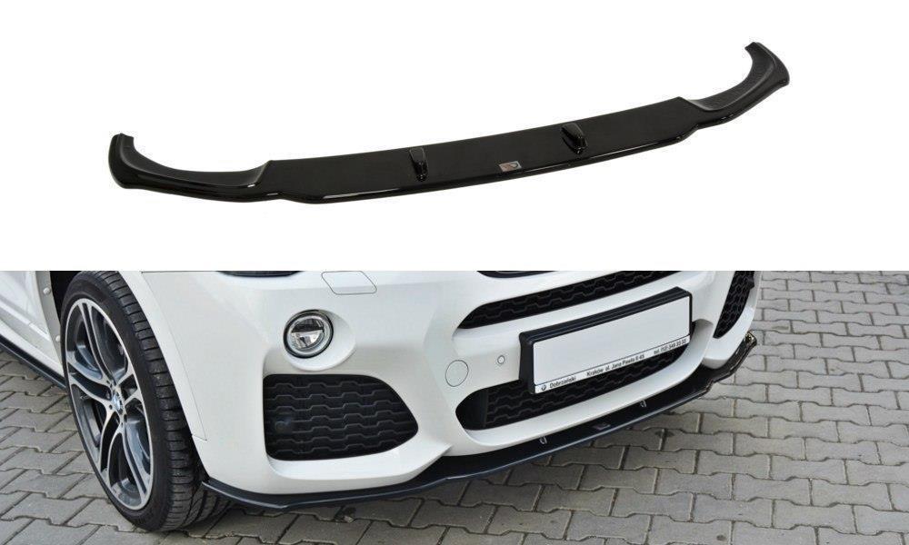 front ansatz passend f r bmw x4 m paket schwarz matt frontans tze aerodynamik auto tuning. Black Bedroom Furniture Sets. Home Design Ideas