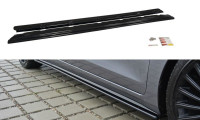 Seitenschweller Ansatz Passend Für Hyundai I30 Mk.2 Schwarz Hochglanz