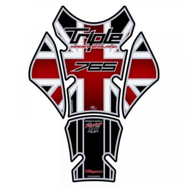 Motografix Triumph Street Triple 765 3D Gel Tank Pad Protector TT032KR